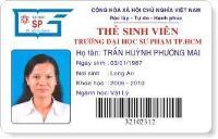 In thẻ nhân viên - NV1